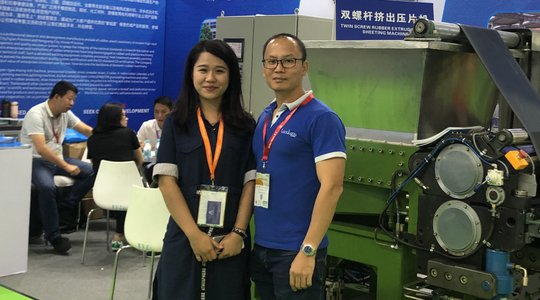 Mr Nguyen Van Thanh at 19th International Exhibition on Rubber Techonology in Shanghai 2019