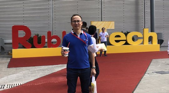 Mr Nguyen Van Thanh at 19th International Exhibition on Rubber Techonology -Shanghai 2019