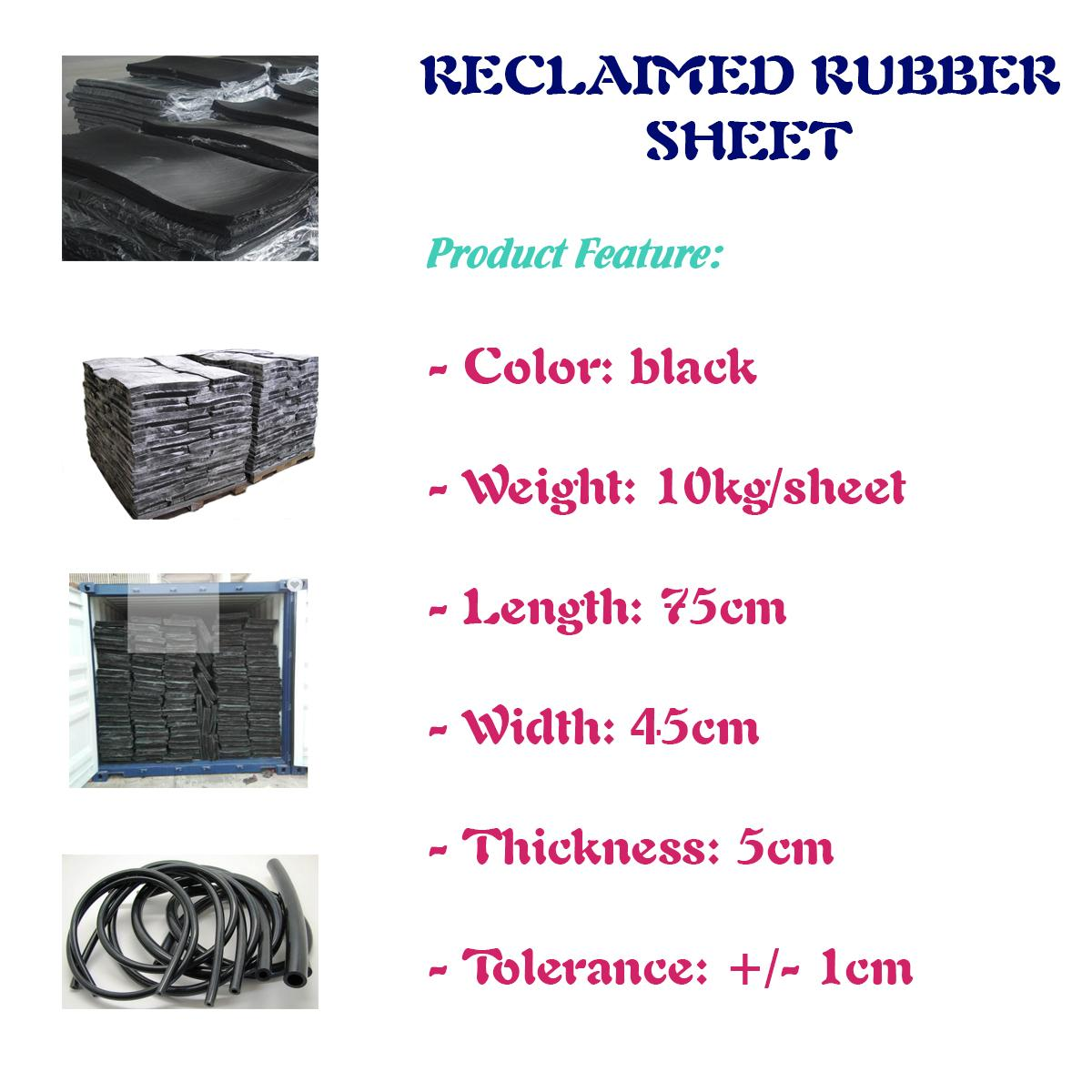 Whole tire reclaimed rubber for belt industry