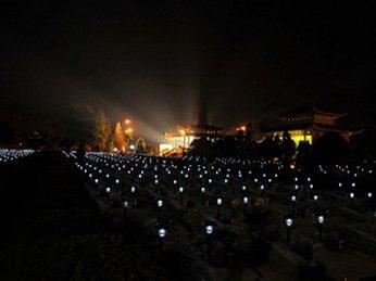 Lắp đặt bóng đèn năng lượng mặt trời tại Nghĩa trang liệt sĩ thành phố Đà Nẵng