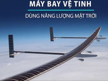 Máy bay vệ tinh sử dụng pin năng lượng mặt trời