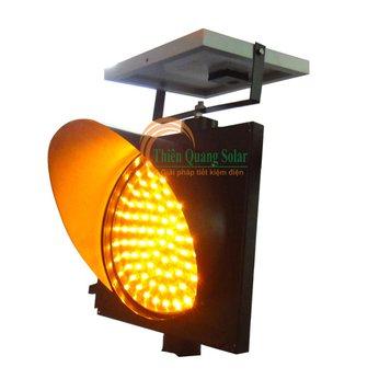 Đèn tín hiệu giao thông năng lượng mặt trời TQS-D200-Chớp vàng