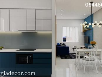 Thiết kế thi công nội thất căn hộ 1 phòng ngủ - Bình Dương