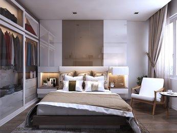 Thiết kế nội thất phòng ngủ sang trọng dành cho căn hộ