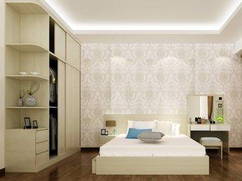 Các mẫu giường ngủ gỗ công nghiệp MDF dành cho chung cư