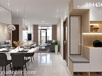 Thiết kế thi công nội thất căn hộ Diamond Riverside