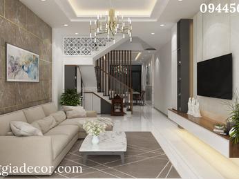 Thiết kế thi công nội thất nhà phố Q12 - Chị Ngân