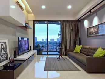 Mẫu kệ tivi phòng khách dành cho căn hộ chung cư