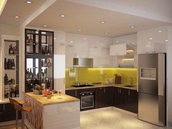 Mẫu thiết kế quầy bar đẹp cho không gian bếp