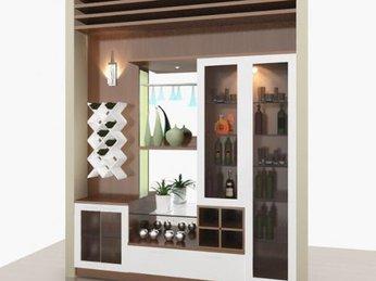 Mẫu tủ rượu hiện đại dành cho căn hộ chung cư
