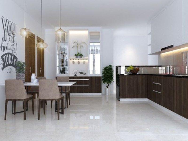 Mẫu tủ bếp dành cho căn hộ
