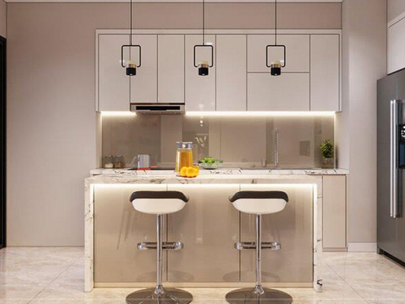 Quầy bar bếp hiện đại QB10