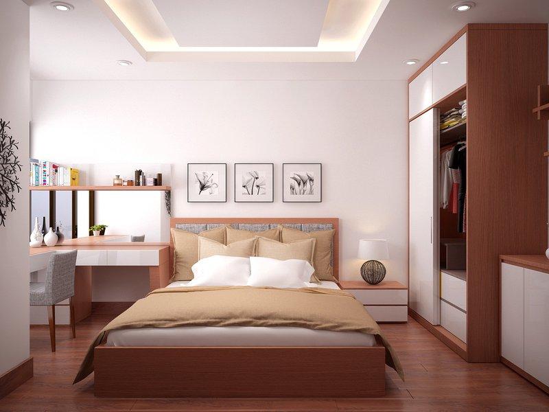 Giường ngủ mdf melamine An Cường