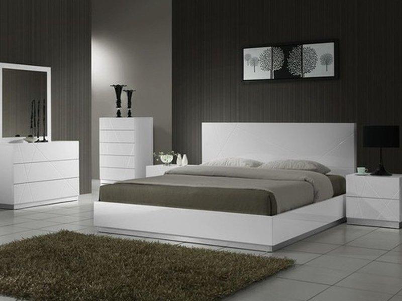 Giường ngủ gỗ công nghiệp mdf melamine hiện đại