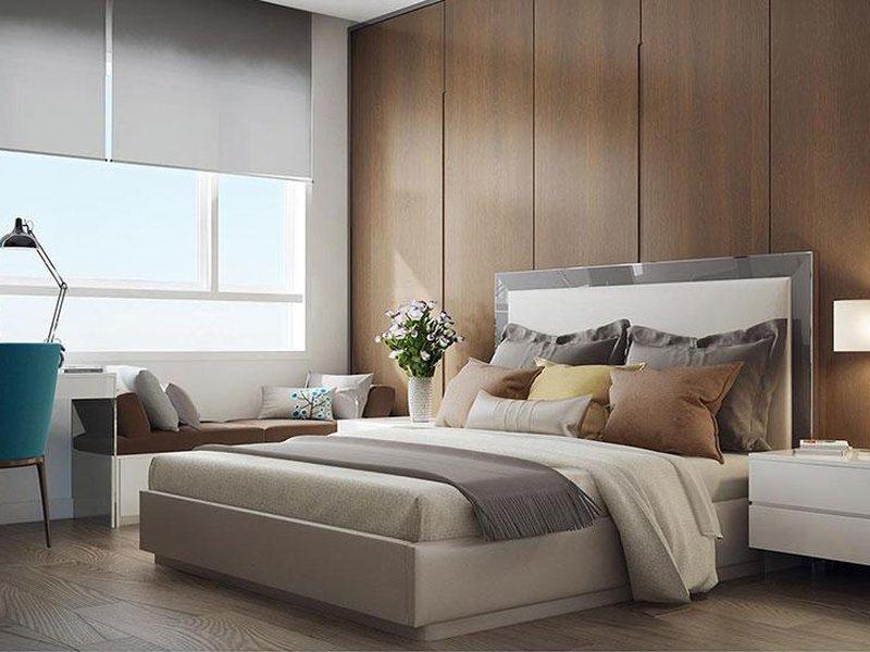 Giường ngủ gỗ công nghiệp bọc simily cao cấp