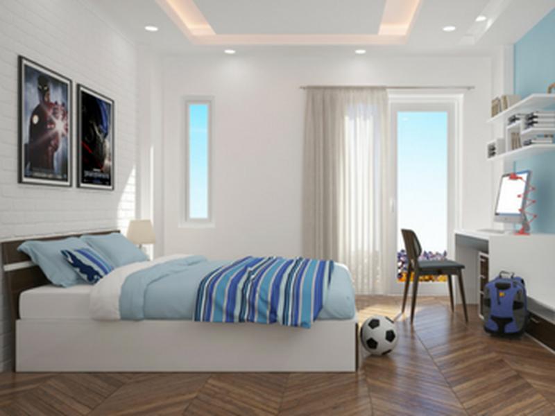 Giường ngủ gỗ công nghiệp sơn PU