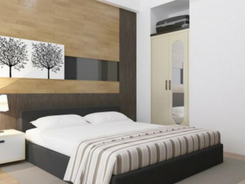 Giường ngủ gỗ công nghiệp bọc simily