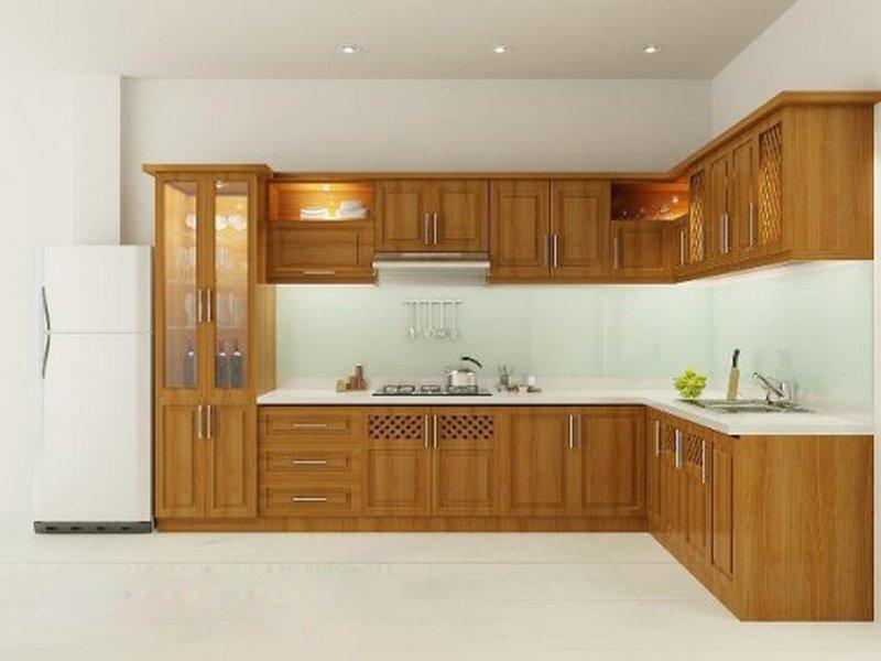 Những mẫu tủ bếp gỗ tự nhiên