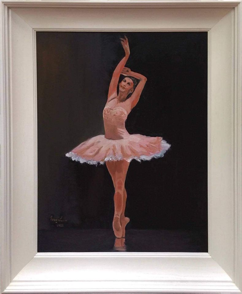 05. Trần Thị Trường. Ballet 1, oil on canvas, 80cm x 60cm. 2020. Price 18.000.000 VND