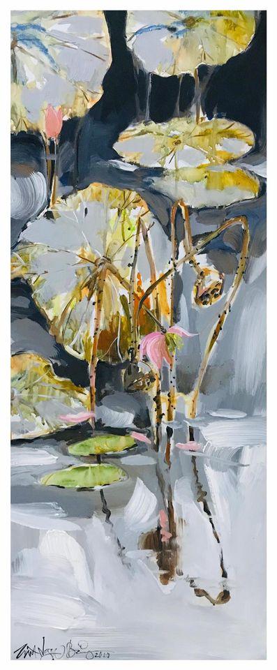 08. Trần Ngọc Bảy, Mùa Phai (Faded season), acrylic on canvas, 40x 100cm. 2020. Price 10.000.000 VND