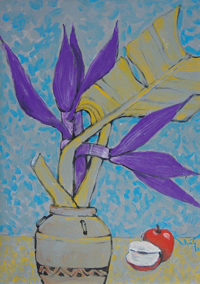 11. Hoàng Trung Dũng. Sắc Yêu (Love Hue), oil on canvas, 50cm x 70cm, 2020. Price 20.000.000 VND