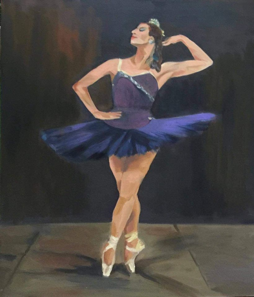 19. Trần Thị Trường. Ballet 2, oil on canvas, 80cm x 60cm. 2020. Price 18.000.000 VND