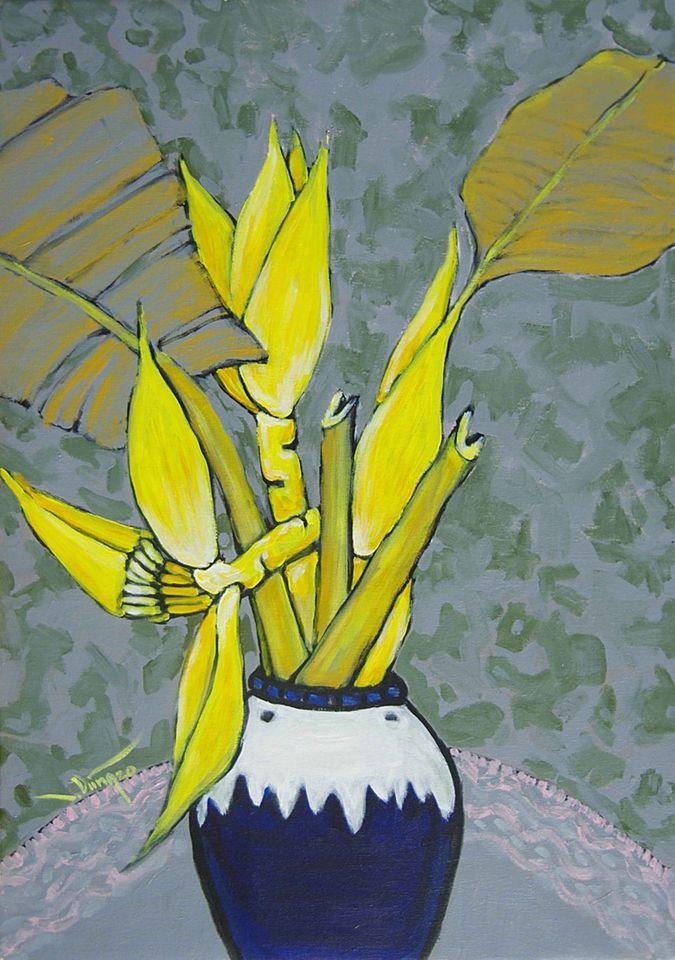 21a. Hoàng Trung Dũng. Sắc Vàng (Yellow Hue), oil on canvas, 50cm x 70cm, 2020. Price 20.000.000 VND