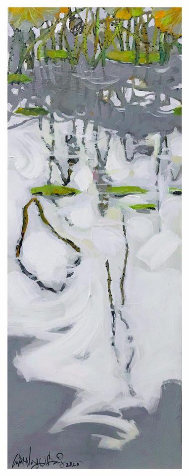 23. Trần Ngọc Bảy, Hương cuối mùa (End of season scent), acrylic on canvas, 38x 100cm. 2020. Price 10.000.000 VND