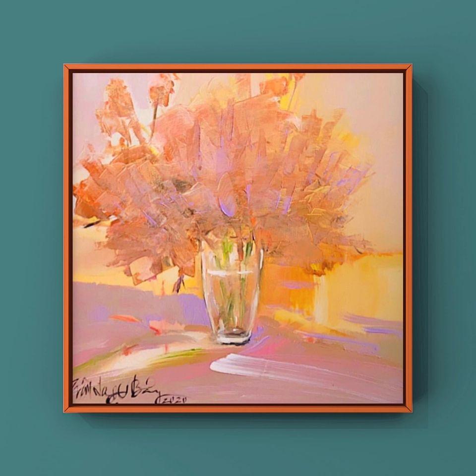 28. Trần Ngọc Bảy, still life 1 , acrylic on canvas, 40x 40cm. 2020. Price 5.000.000 VND