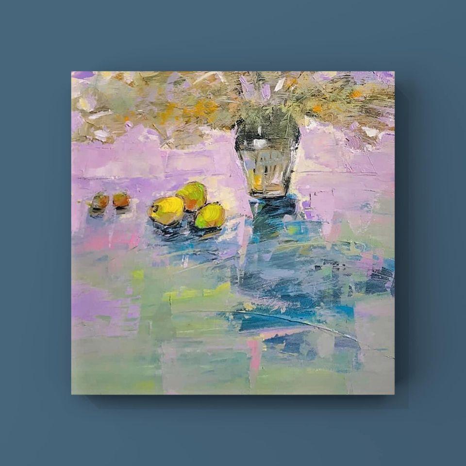 29. Trần Ngọc Bảy, still life 2 , acrylic on canvas, 40x 40cm. 2020. Price 5.000.000 VND