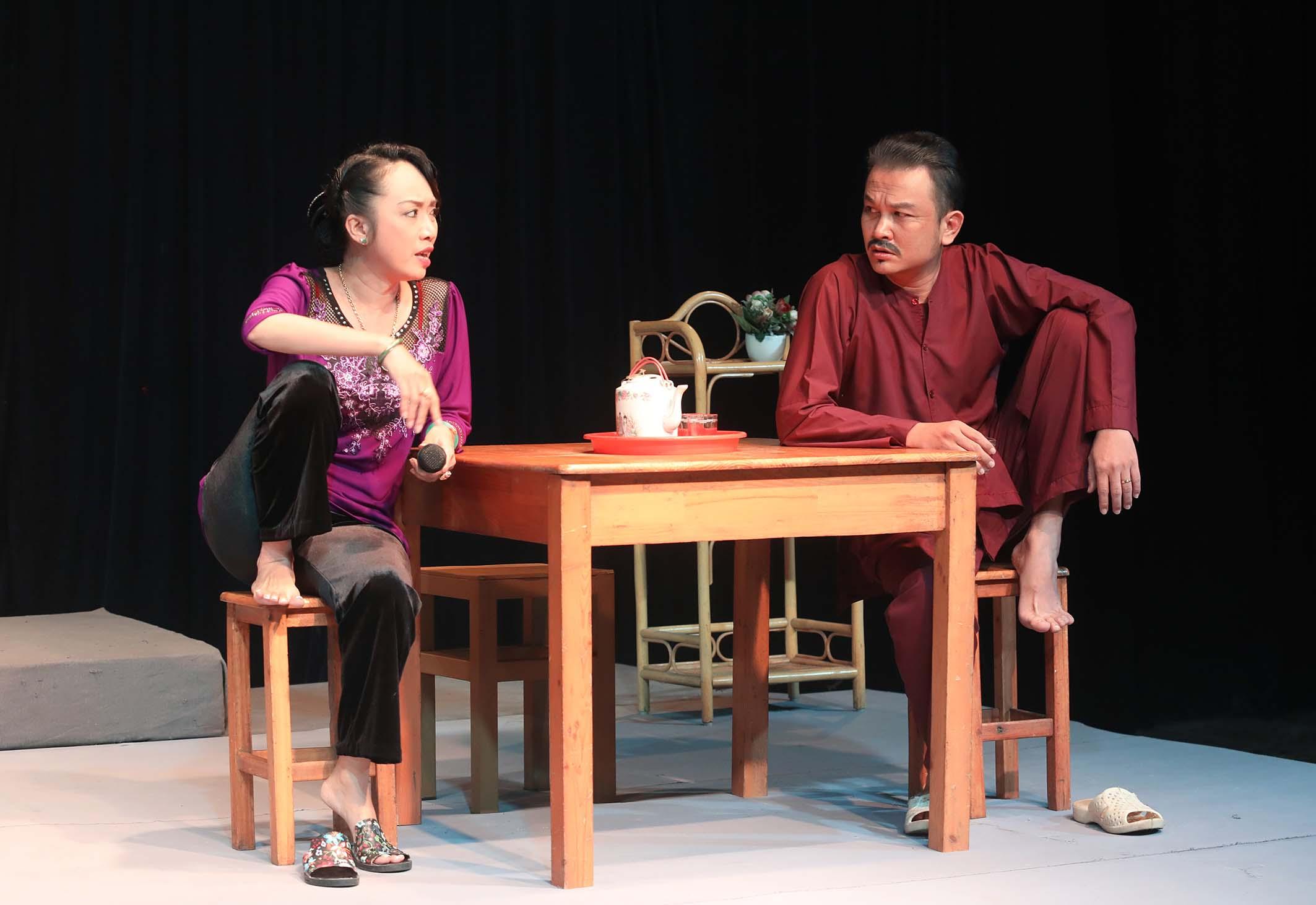 Nghệ sĩ Thiên Kiều và Hữu Quốc