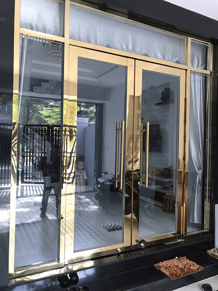Lắp đặt cửa kính cường lực khung inox, cửa inox kính cường lực giá tốt