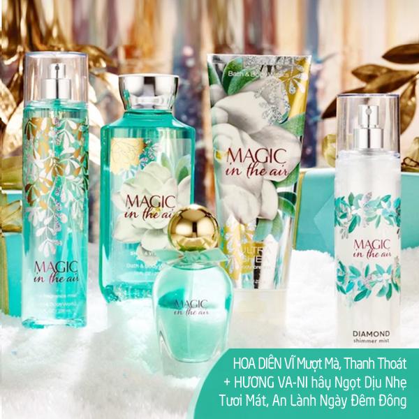 Bộ sữa tắm dưỡng thể xịt thơm lưu hương Magic In The Air - Bath and Body Works