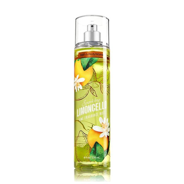 Xịt thơm body dưỡng ẩm Sparkling Limoncello Cam Chanh - Bath and Body Works 236ml
