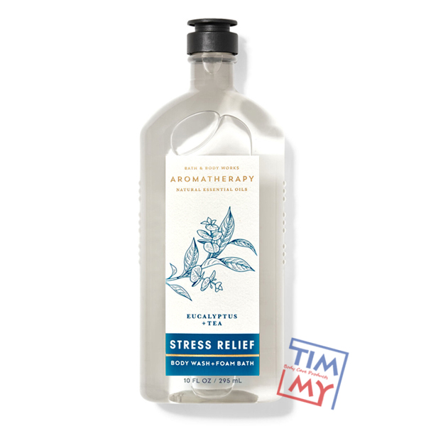 Sữa tắm trị liệu tinh dầu trà giảm Stress Relief Eucalypus Tea - Bath & Body Works 295ml (new)