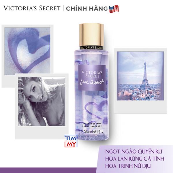 Xịt thơm toàn thân dưỡng ẩm Love Addict - Victoria 's Secret