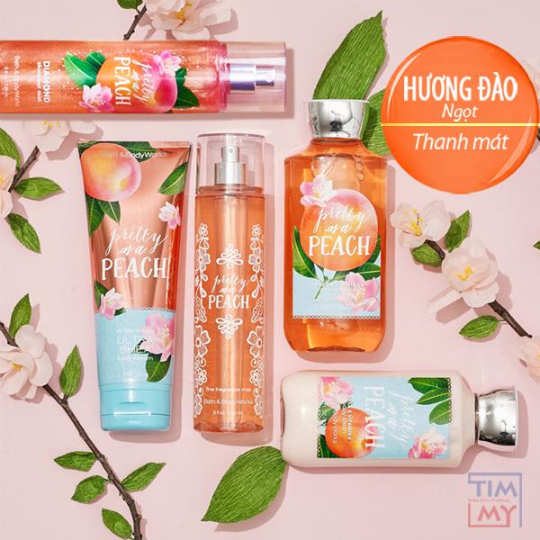 Bộ dưỡng da lưu hương toàn thân Pretty of a Peach - Bath and Body Works