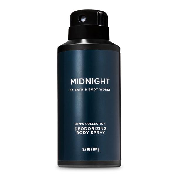 Xịt khử mùi toàn thân nam Midnight - Bath and Body Works 104g