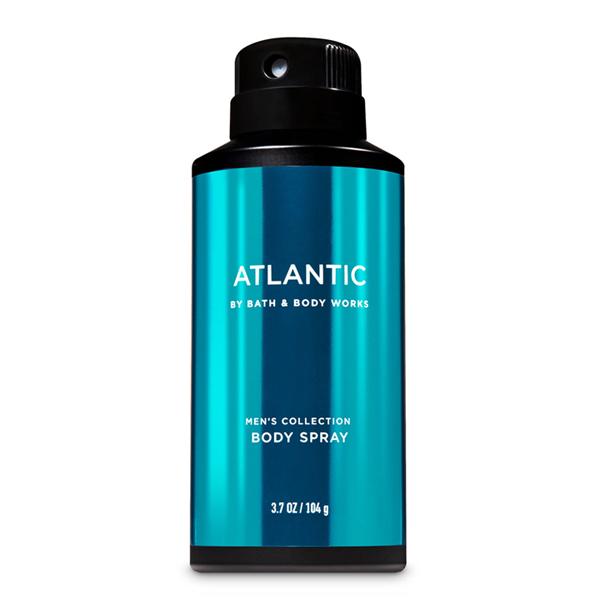 Xịt khử mùi toàn thân nam Atlantic - Bath and Body Works 104g