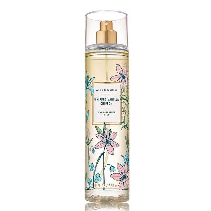 Xịt thơm body dưỡng ẩm Whiped Vanilla Chiffon - Bath and Body Works 236ml
