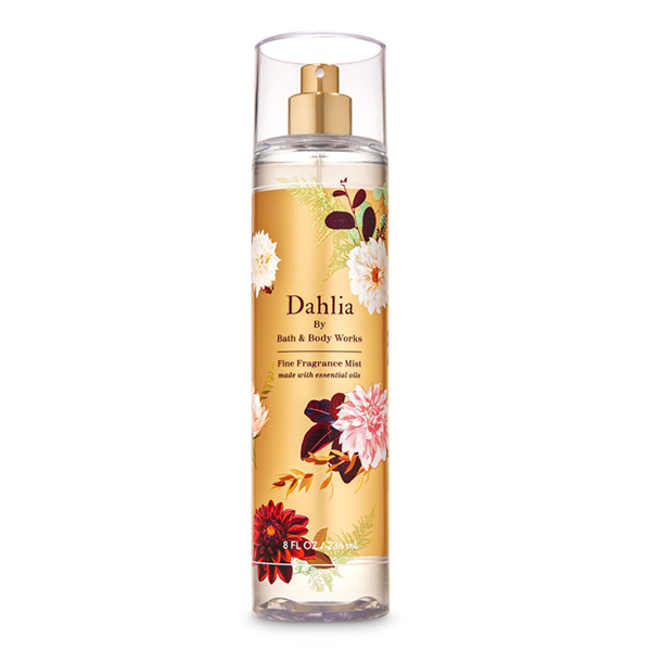 Xịt thơm body dưỡng ẩm Dahlia- Bath and Body Works 236ml