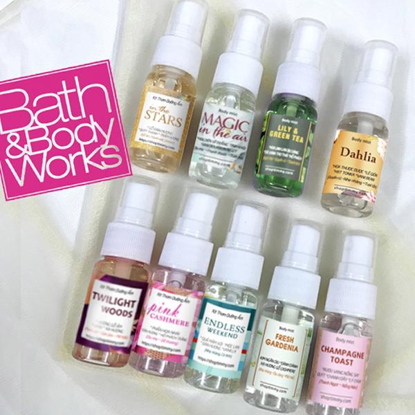 Xịt thơm dưỡng ẩm chiết 20ml 30ml Bath & Body Works body mist (nhóm 2)