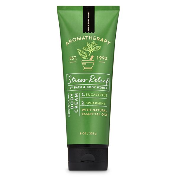 Kem dưỡng thể trị liệu giảm Stress bạc hà Eucalyptus Spearmint - Bath and Body Works 226g
