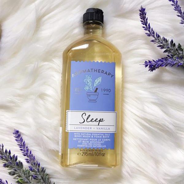 Sữa tắm trị liệu Oải hương & Vani Sleep Lavender Vanilla - Bath & Body Works