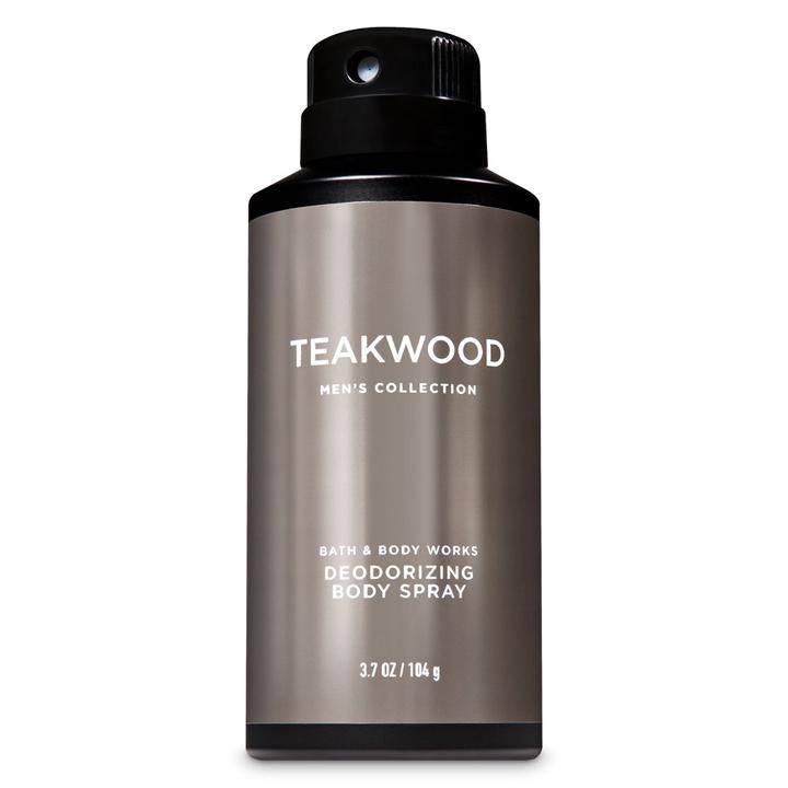Xịt khử mùi toàn thân nam TeakWood - Bath & Body Works 104g