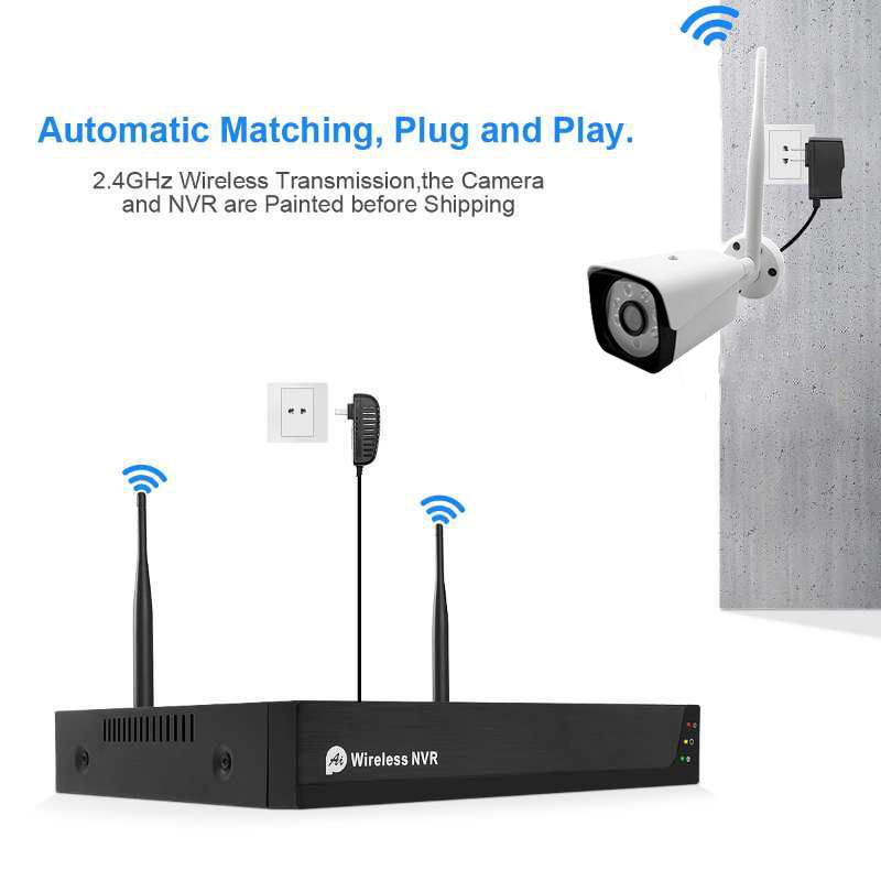 Bộ KIT 4 camera IP 2.0MP IP wifi  plug and play
