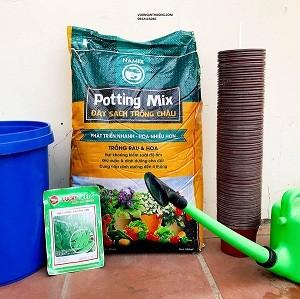 Đất sạch trồng chậu