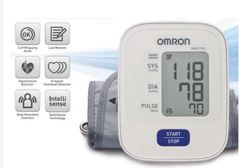 Máy đo huyết áp bắp tay Omron Hem 7120 ( Trắng )
