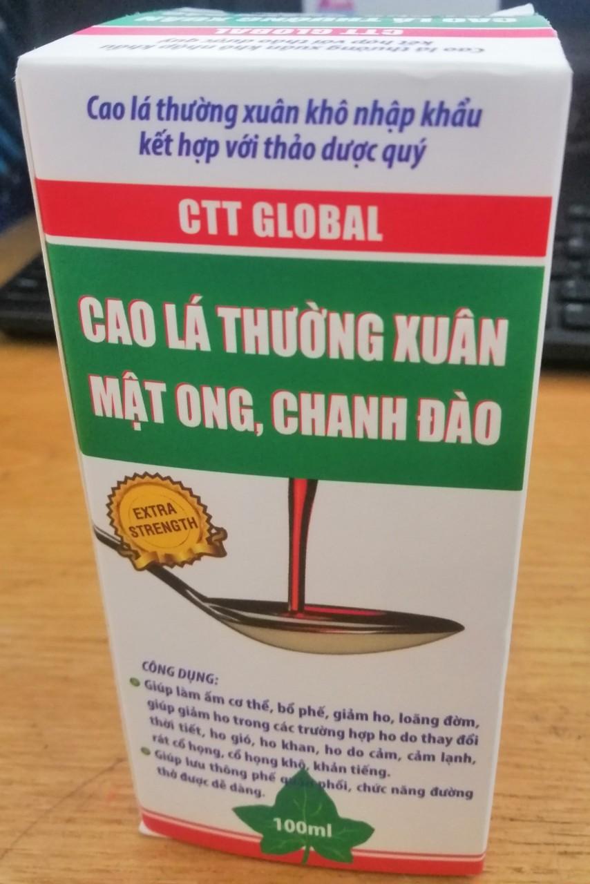 CTT Global - Siro cao lá thường xuân mật ong chanh đào trị ho
