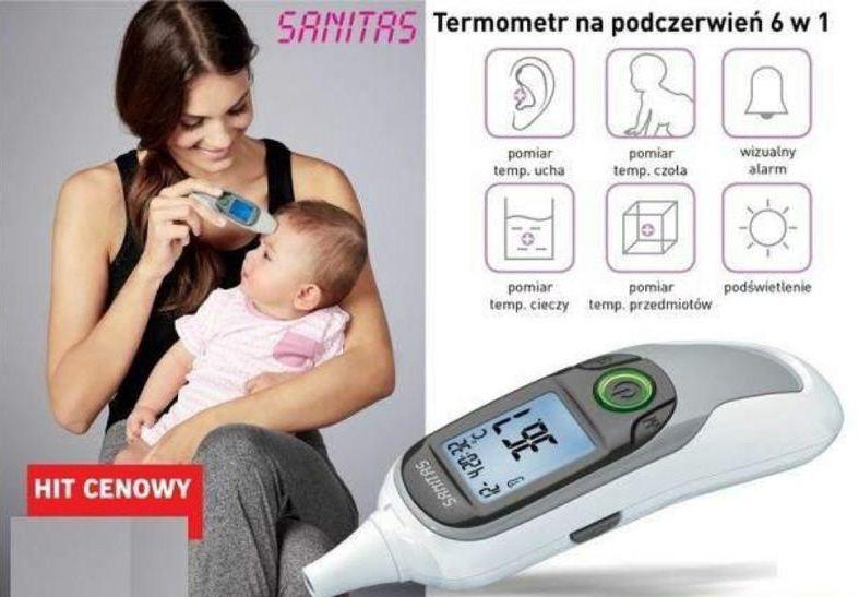 Nhiệt kế điện tử Sanitas SFT 77 (Đức 6 in 1)